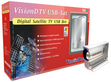 VisionDTV Twinhan model - 7021 Digital Satellite USB External Box with Remote Control