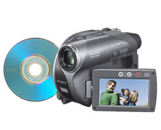 "Sony DCRDVD205 DVD HandyCam with 2.7"" Wide Hybrid Touch LCD"