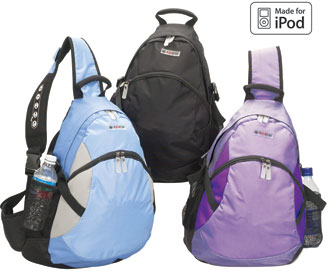 IPOD Ready Backpack with control panel on the strap (Model NO-5242/blue or black colour)