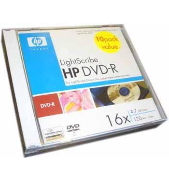 10pk-Lightscribe DVD-R (16x)
