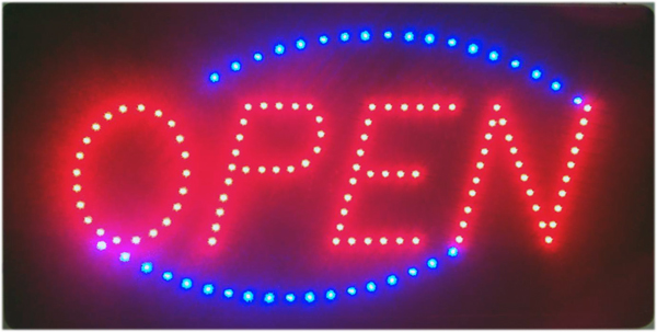 Animated LED 'Open' Sign