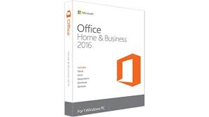 Office Home and Business 2016-Retail Box with Key inside only ( medialess.)