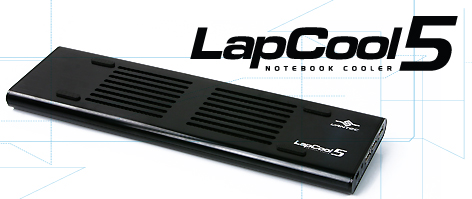 Lapcool 5 Notebook Cooler (Build-in 3 Port Hub)