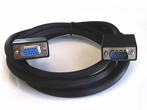 6FT VGA/SVGA Monitor cable with ferrite (M/F)