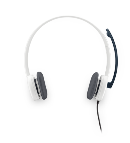 H150 Stereo Headset with Analog Connection/Noise-canceling Mic.