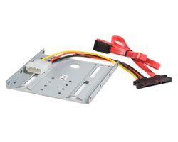 2.5in SATA Hard Drive to 3.5in Drive Bay Mounting Kit (with SATA Cable)