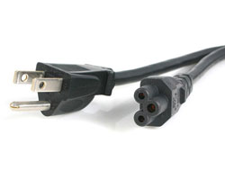 6ft 3-slot laptop power cable