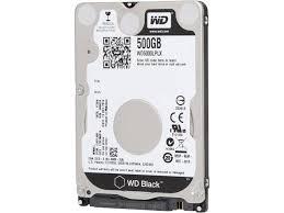 Black 500GB Performance Laptop Hard Disk Drive - 7200 RPM SATA 6 Gb/s 32MB Cache2.5 Inch - WD5000LPLX