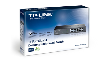 16-Port - 10/100/1000Mbps Gigabit Switch (TL-SG1016D)