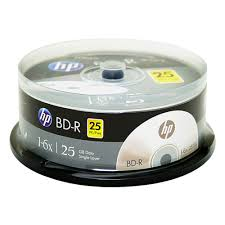 Blu-ray/BD-R/25GB/1-6x/25pk.Single Layer Medias