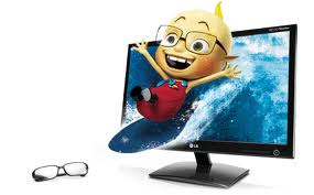 "23"" D2342P-PN, 3D CINEMA ,HDMI WLED  Monitor with 3D Glasses(DEMO MODEL)"