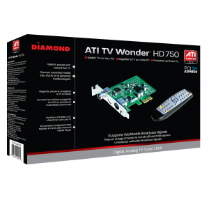 TV Wonder HD-750 PCIe Card with Remote and AV Capture./LP bracket.