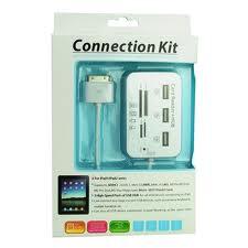 3x USB2.0 with 5 in 1 Card Reader for iPad1/iPad2