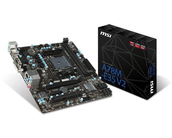 A78M-E35V2  MATX  Military Class 4 Board for AMD/FM2/FM2+ CPU's.