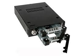 "ToughArmor-Dual Bay 2.5"" SAS/SATA SSD & HDD Metal Mobile Rack for 3.5"" Device Bay-Model-MB992SK-B (Business Class)"