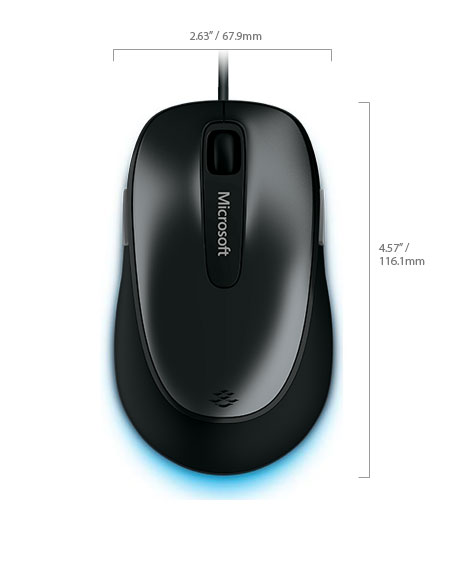 USB 2.0 Comfort Mouse 4500 ,BlueTrack Technology,Tilt Wheel,-Model-4EH-00004-OEM Brown Box.