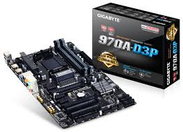 GA-970A-D3P (Rev.2.1) ATX Gaming Board with 4-DIMMS/SK-AM3+