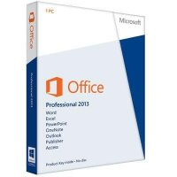 Office Professional 2013 English (Retail) Medialess PKC. for 1PC