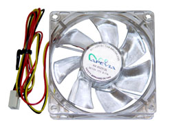 80mm 4pin+3pin Crystal Quiet Case Fan-Model-CF8S