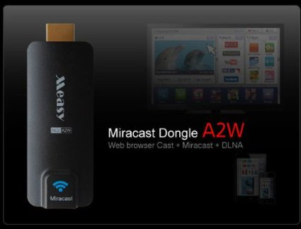 A2W Media Wireless Sharing Display Miracast Dongle HDMI+DLAN+Chromecast