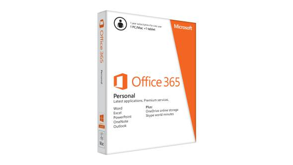 Office 365 Personal, 1 PC or Mac + 1 Tablet, 1-Year subscription,