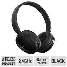 W770 Wireless Headset with hidden multi-directional microphone/rechargeable battery.