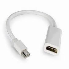 Mini DisplayPort (male)  to HDMI (female)  Adapter Cable.