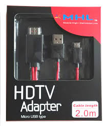 MHL to HDMI-HDTV  Media Adapter/cable.