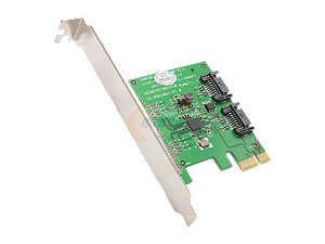 SATA-III (6Gbps) 2port PCIe Controller Card with Low Profile bracket.