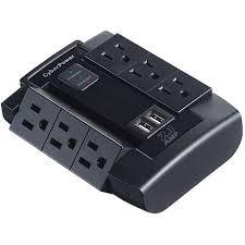 Professional Surge Protectors  with USB Charge Ports-Model-CSP600WSU.