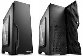 DUKASE-ATX Gaming Black Case  with Door/Window