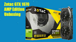 GTX-1070/8GB/GDDR5/DX12/VR Ready, AMP ! Edition Video Card with Dual Fans.