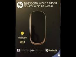HP Z8000 Bluetooth Mouse (H6J32AA), The world's thinnest bluetooth smart mouse, ( recertified unit)