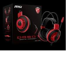 DS501 GAMING WIRED HEADSET with 3.5mm connector/High Quality Microphone. Black/Red.