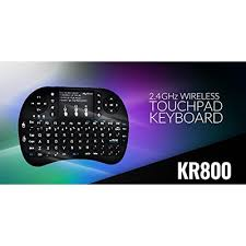 KR-800 Wireless Keyboard and Touch Pad for Mouse Function and Backlight with rechargeable battery.
