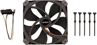 TrueQuiet 120mm Case fan with 600/1000rpm, 2 speed switch, Black color.