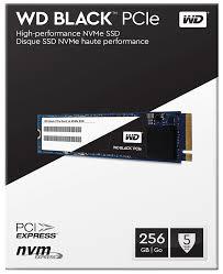 Black PCIe Gen3 x4 NVMe M.2 (256GB) Read:2050 Mb/s,Write: 700 MB/s SSD (WDS256G1X0C) 5yr. Ltd.Warranty.