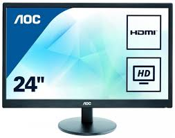 "24"" Class Slim Design LED Monitor with Speakers/1920x1080/1ms/VGA,DVI,HDMI ports.Model-E2475SWJ."