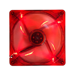 140mm 4pin+3pin Silent Red LED Case Fan
