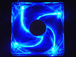 140mm 4pin+3pin Silent Blue LED Case Fan