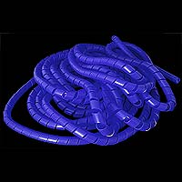 Blue Spiral Cable Sleeving