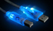 Firewire Blue LED 6ft 6-6 Pin