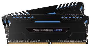 Vengeance LED 16GB 2X8GB DDR4 3000MHZ C15 1.35V Memory - Black With Blue LED (CMU16GX4M2C3000C15B)